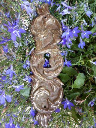 Barock Türbeschlag - Schlüsselschild Bronze 1760 Orginal Bild