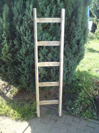 Alte Holzleiter,  Sprossenleiter,  Blumenleiter,  Gartenleiter,  1,  45 M,  5 Sprossen Bild