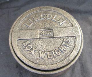 Alte Gußstahl Gewichte Lincol Box Weights Bild