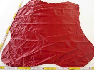 Rindlederhaut Rot 90x85 1,  0mm Oberleder Kuh Larp Fell Sattel Büffel Rind Tasche Bild