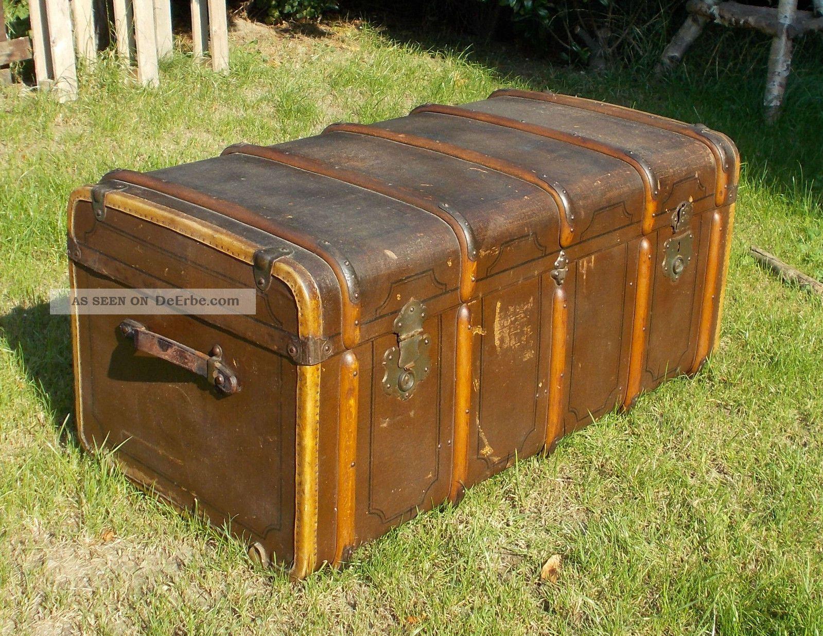 alter Überseekoffer koffer truhe reisekoffer kofferschrank couchtisch