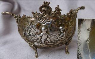 Schöne Jugendstil Silberschale Putten Floral 150g Bild
