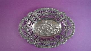 Kleine Dekorative Schale Durchbrochen 800er Silber Bild