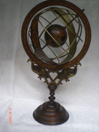 Antiker Jugendstil Messing Globus Um 1900 Bild