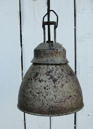 1950 - 1960 Shabby Fabriklampe,  Retrolampe,  Designlampe,  Loftlampe,  Rechnung Bild