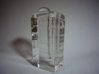 Eis Ice Glass Glas Blockvase,  Ära Timo Sarpaneva,  Nicht No Wiesenthalhütte Bild