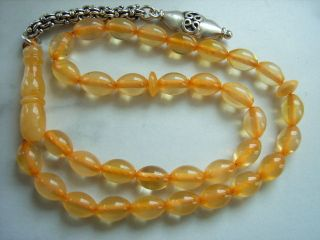 100 Bernstein Butterscotch Gebetskette Bernsteinkette Amber Prayer Beads Tesbih Bild