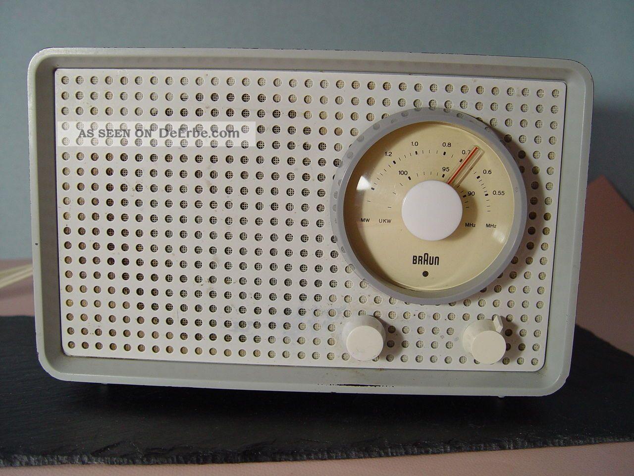 Ori.  60er Designklassiker Braun Sk25 Kleinsuper Röhrenradio Originallackierung 1950-1959 Bild