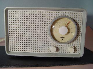 Ori.  60er Designklassiker Braun Sk25 Kleinsuper Röhrenradio Originallackierung Bild