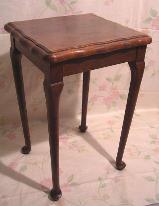 Frankreich Antiker Tisch Beistelltisch Nussbaum Gründerzeit 1860 Shabby Chic A Bild