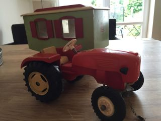 Steiff Traktor / Trecker Mit Anhänger / Zirkuswagen,  60er Jahre Bild