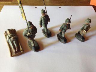 Elastolin Wehrmacht Figuren Fahnenträger,  Selten Bild