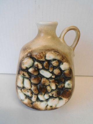 Vase - Henkelvase Mit Steinmotiv Von Dümler Breiden Nr.  401/15,  Keramik Der 70er Bild