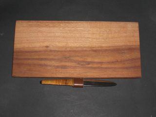 Frühstücks - Oder Jausenbrett Von AubÖck - Messer Signiert Bild
