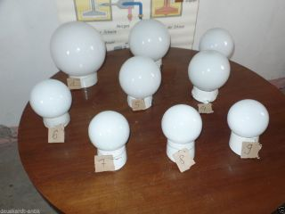 Art Deco Milchglas Kugel Lampe Industrie Design Loft Werkstatt Hausflur Bild