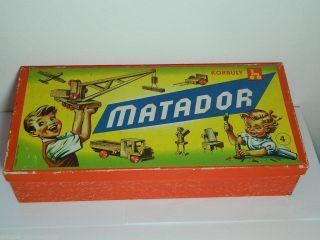 Matador Baukasten Nr.  4 / Holzbaukasten / 50er - 60er Jahre / Bild