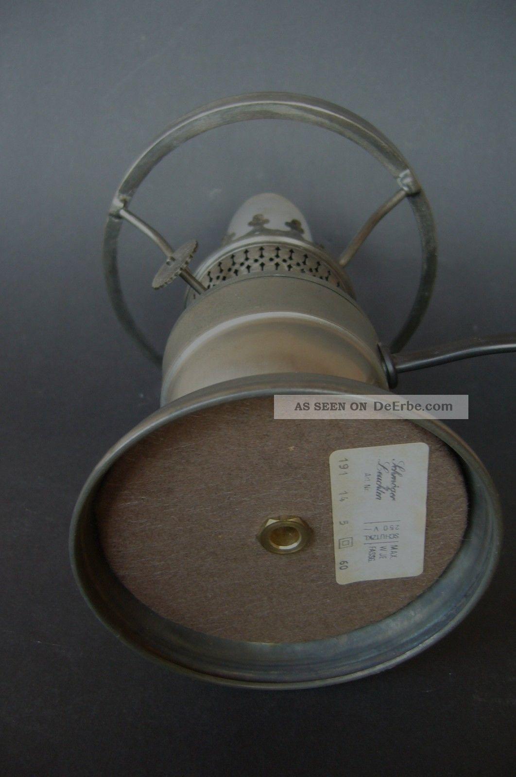 petroleumlampe zinnlampe tischlampe glaszylinder gr ner lampenschirm elektrisch. Black Bedroom Furniture Sets. Home Design Ideas