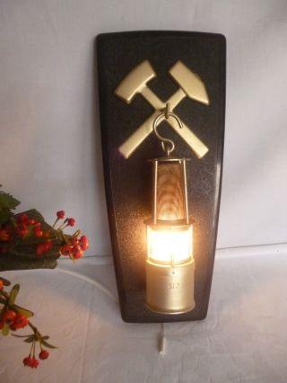 Bergmannlampe Lampe Glz Wandlampe Lampe Leuchte Glück Auf Hammer Zugschlalter Bild