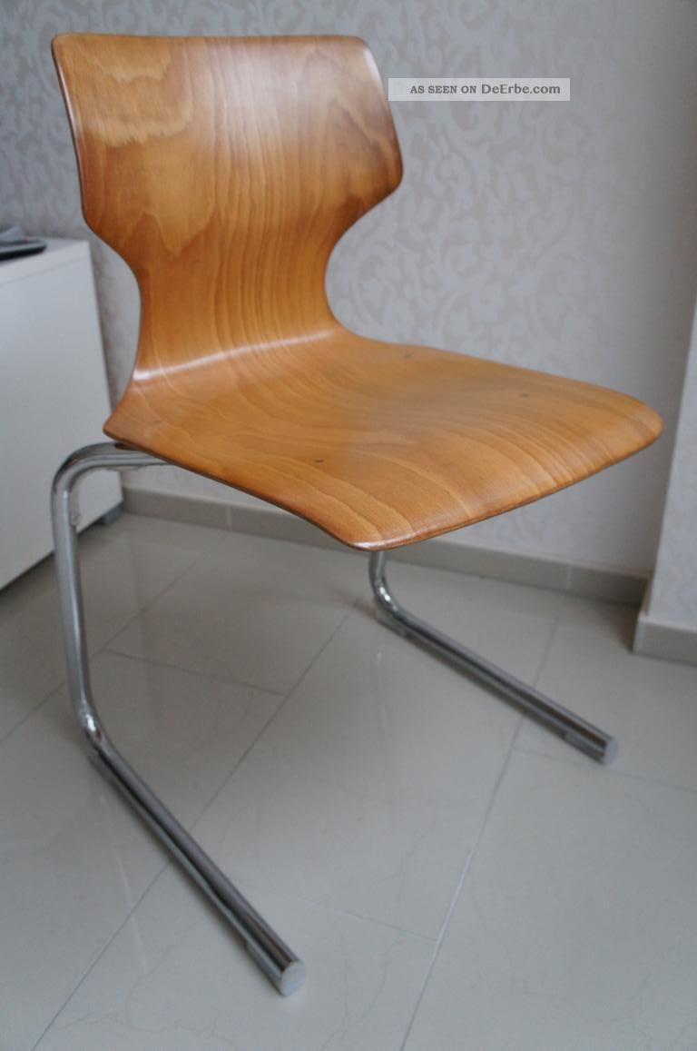 4 von 40 stuhl stapelstuhl st hle freischwinger chrom. Black Bedroom Furniture Sets. Home Design Ideas