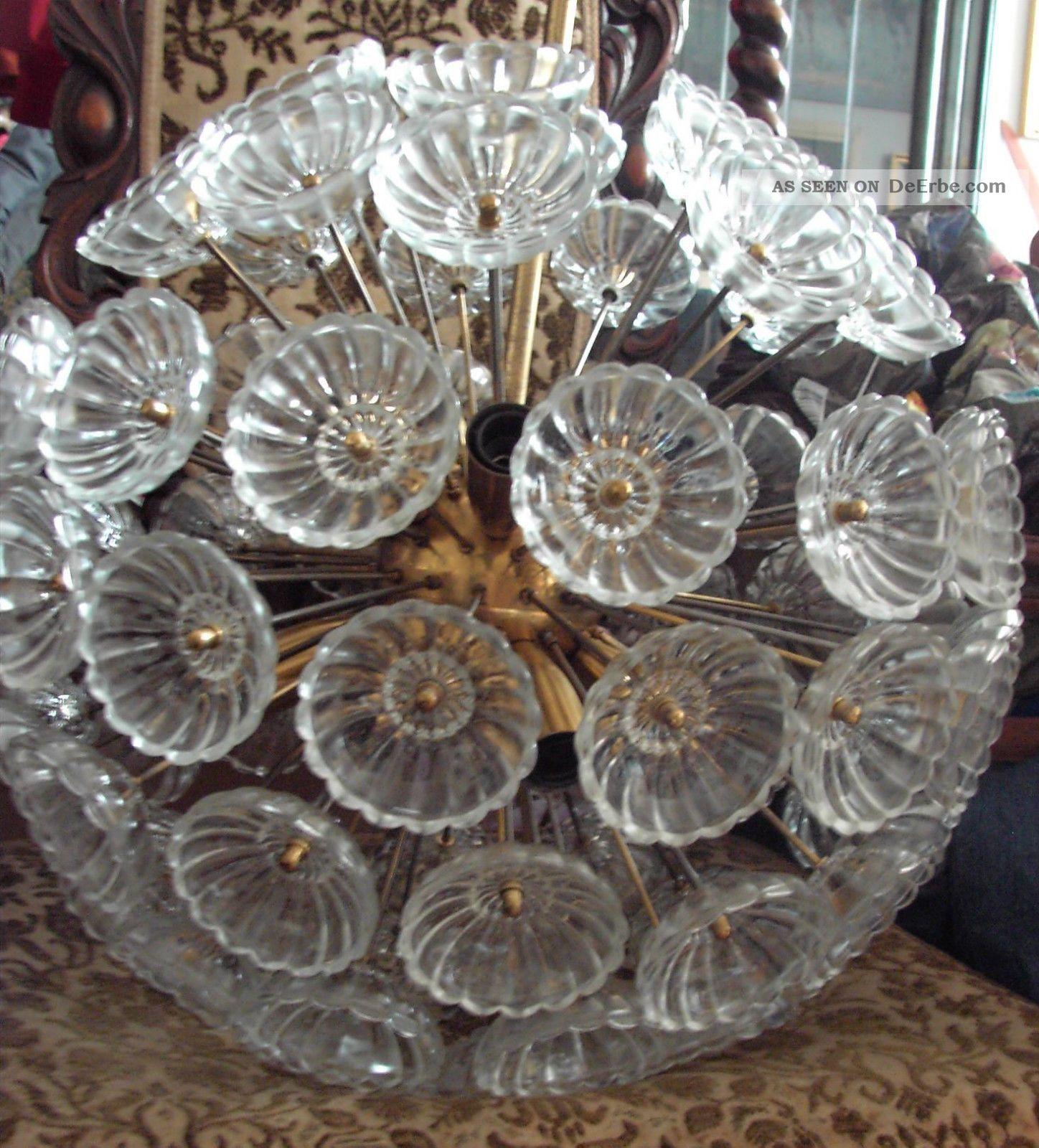 große lampe ddr pusteblume veb kristalleuchte emil stejnar sputnik