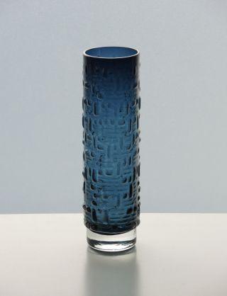 Gralglas Vase F231 Gral Glas Nachtblau 21 Cm Entwurf Emil Funke 1962/63 | 60er Bild