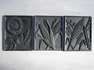 Gusseisen Relief Platten 3x Claas Guss Alt Bild