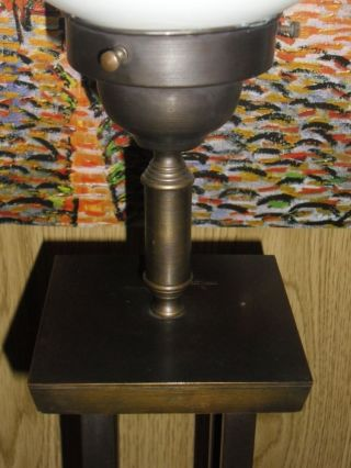 Messinglampe Manufaktur Jugendstil Art Deco - Stil Mit Vier SÄulen Stehlampe Bild