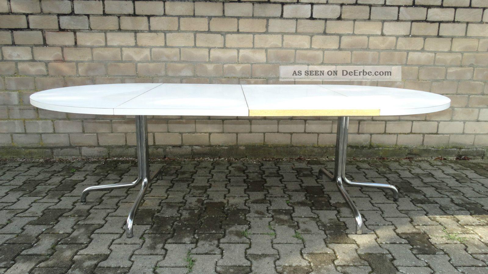Esstisch Thonet ~ Thonet Tisch Holztisch Chrom 70er Konferenztisch Esstisch Rund Ausziehbar 240cm