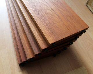 String Regal 6x BÖden / Bretter Teak 20cm X 80cm The Ladder Shelf 1960s Bild