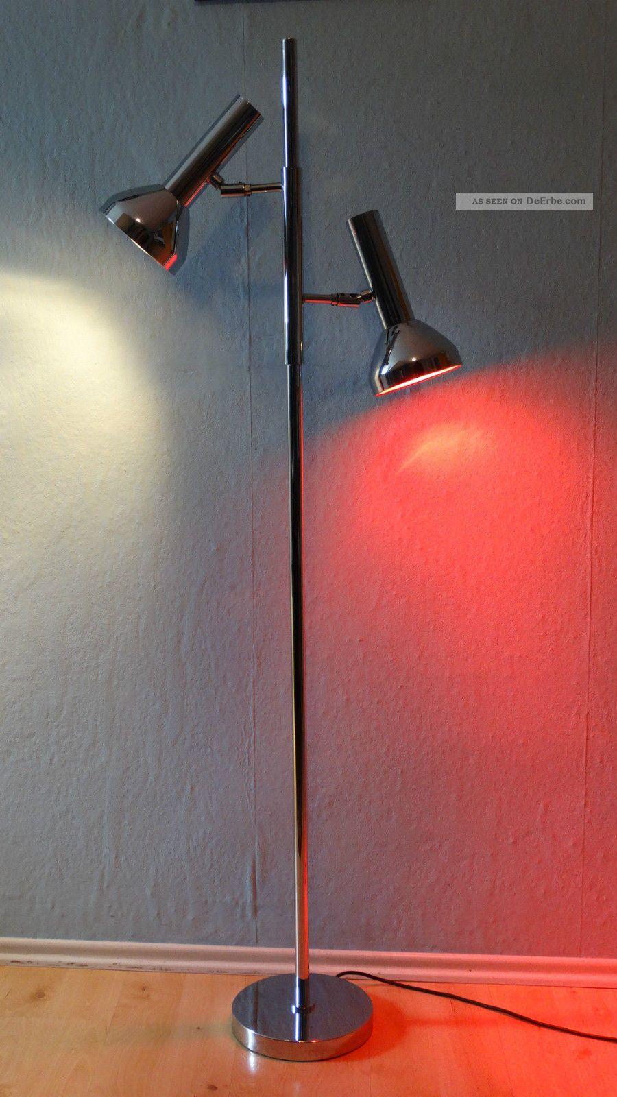70er jahre stehlampe design lampe leuchte 2 spot s. Black Bedroom Furniture Sets. Home Design Ideas
