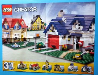 Lego Prospekt Poster Creator Stadt Brand Hubschrauber Fire Schiff 52,  6 X 39,  8 Cm Bild