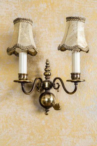 Kaiser Wandlampe Wandleuchte Lampe Messing Antik Chippendale 2 - Armig Barock Bild