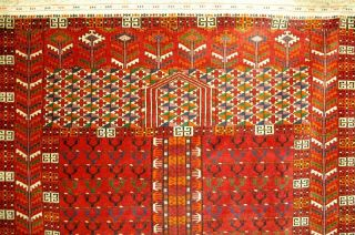 Älterer Turkmen Teppich Ca: 170x118cm Old Rug Tappeto Bild