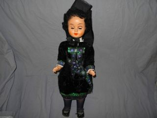 Grosse Tortulon Puppe HÜttenberger Trachten - Puppe Hessen Um 1960 Bild