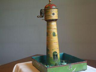 Leuchtturm Mit Springbrunnen Bild