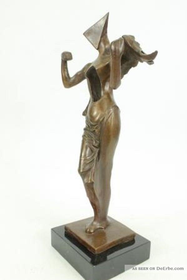 bronze skulptur kunst surrealistischer engel hommage dali