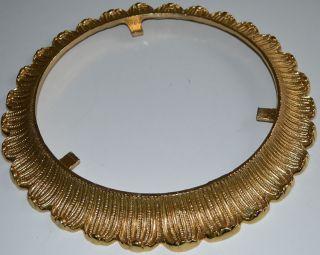 Alter Metall Rahmen Rund Goldfarbig 2,  4kg Bild