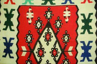 Handgewebt Türkischer Kilim Old Ca: 286x100cm Bild