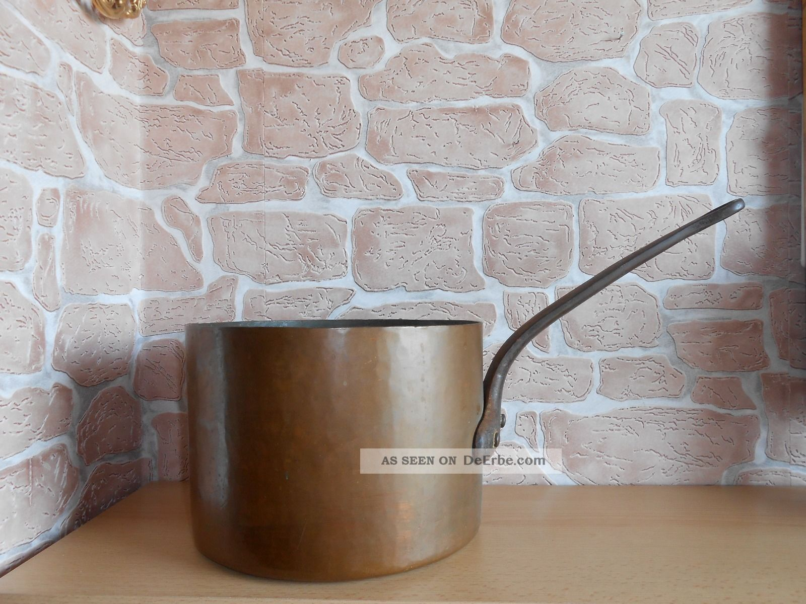 Alte Kupfer Kasserolle - Kupfertopf 8,  2l Haushalt Bild