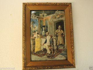 Alte Wunderschöne Malerei Auf Keramikplatte