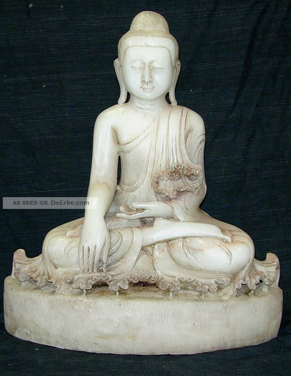 marmor buddha skulptur image tempel buddhismus meditation dekor figur stein. Black Bedroom Furniture Sets. Home Design Ideas