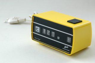 Vintage Wecker 70er Rollzahlenwecker (wie Klappzahlen) Schatz Digitime Typ 95 Bild