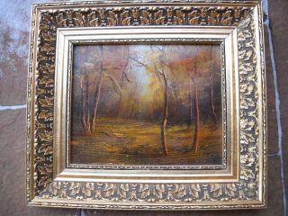 Ölgemälde,  Herbstwald,  Dachbodenfund Rarität Bild