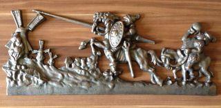 Gusseisernes Relief/wandbild Don Quijote Und Sancho Panza Bild