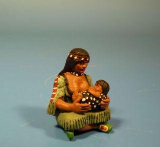 Orig.  Lineol (elastolin) Wild West – Squaw – 7cm Serie Bild