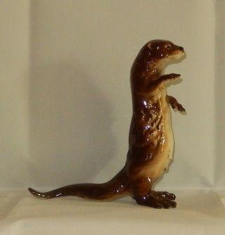 Goebel Porzellan Figur Figuren Tier Otter Bild