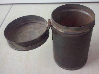 Alte Metall Dose / Blech Dose / Blechbüchse Mit Deckel Bild