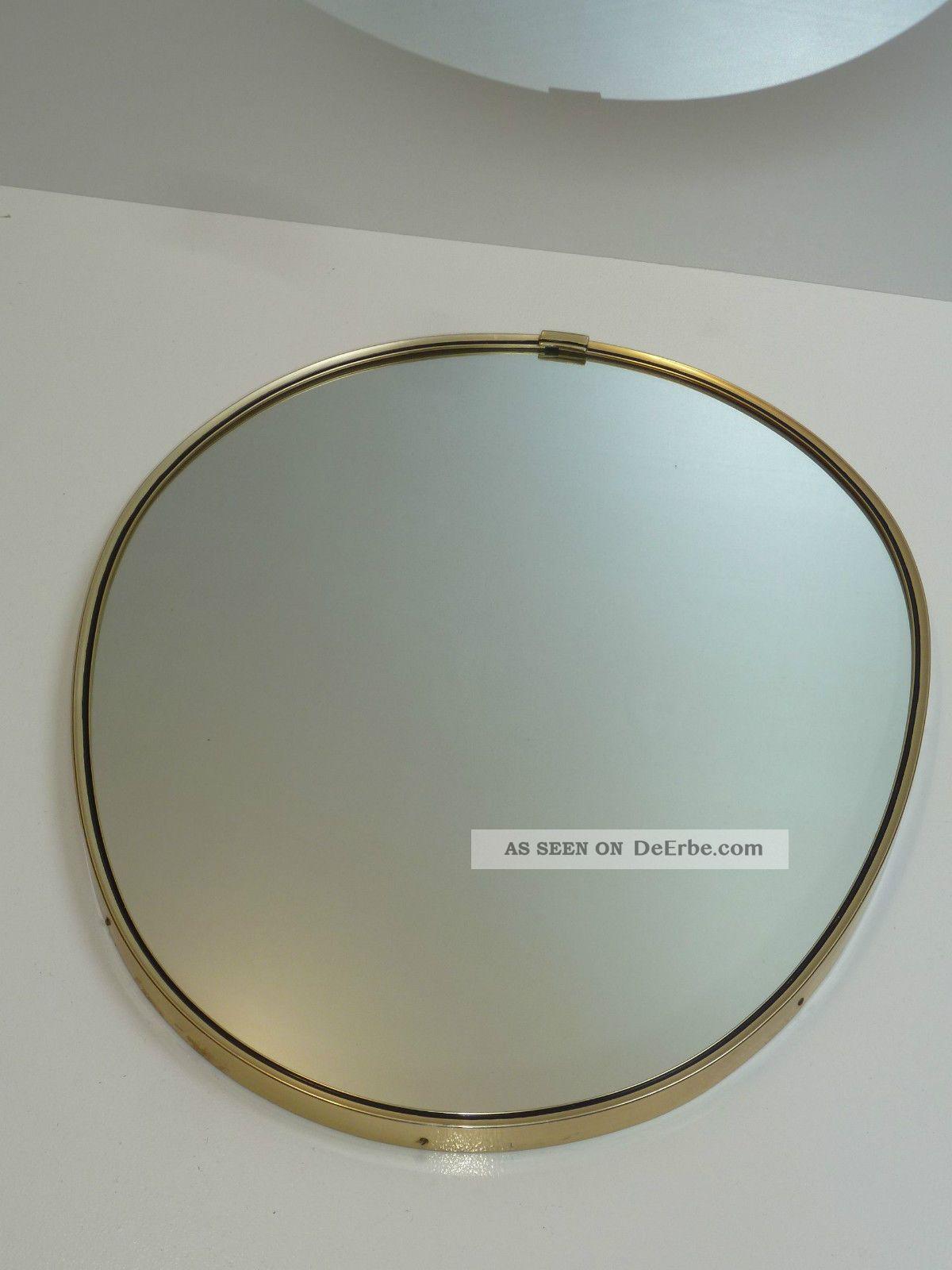 50s 60s Wandspiegel Spiegel 48 Cm Oval A.  D.  Zeit D.  Nierentisch Wall Mirror 1950-1959 Bild