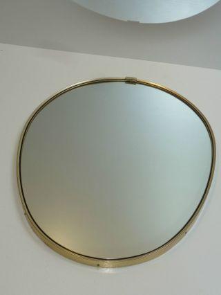 50s 60s Wandspiegel Spiegel 48 Cm Oval A.  D.  Zeit D.  Nierentisch Wall Mirror Bild