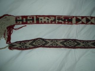 2 Handgewebte Gürtel Aus Guatemala Bild